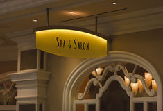 Spa & Salon Sign Stock Image