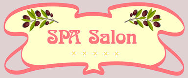SPA Salon signboard Royalty Free Stock Image