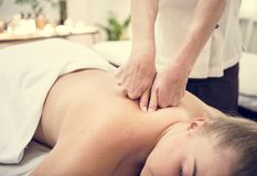 A spa salon therapy treatment Royalty Free Stock Photo