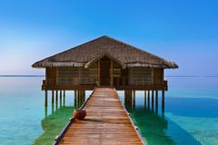 Spa salong på den Maldiverna ön Royaltyfri Bild