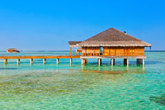 Spa saloon on Maldives island Royalty Free Stock Photos