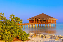 Spa saloon on Maldives island Stock Images