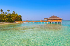 Spa saloon on Maldives island Royalty Free Stock Photography