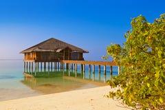 Spa saloon on Maldives island Stock Photo