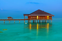 Spa saloon on Maldives island Royalty Free Stock Photos