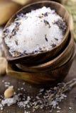 Spa salt stock image