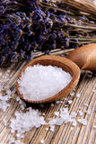 Spa salt with lavender Royalty Free Stock Photography