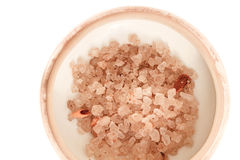 Spa Salt with lemon grass Stock Image