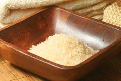 Spa salt milk and honey Stock Photography