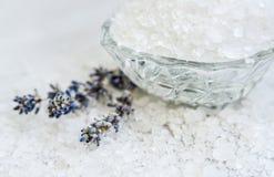 Spa salt parfymerat hav, selektiv fokus Royaltyfria Bilder