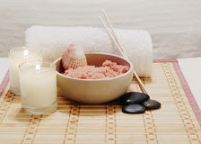 Spa Salts Royalty Free Stock Photo