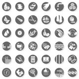 36 spa sauna relax button set stock illustration