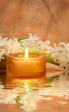 Spa Scene. Warm And Inviting Spa Scene Stock Photo