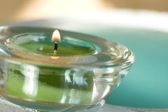 Spa scene with aromatic candle Stock Photo