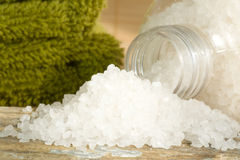 Spa scene with bath salts Stock Photo