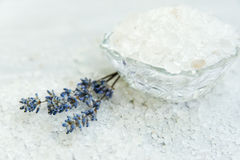 Spa, Scented Sea salt, Selective focus Royalty Free Stock Photo