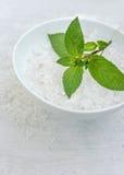 Spa, Scented Sea salt, Selective focus Stock Image
