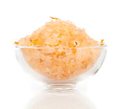 Spa sea salt in bowl Royalty Free Stock Photos