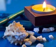 Spa sea shells nad candles Stock Images