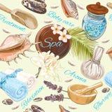 Spa Seamless Pattern Stock Photos