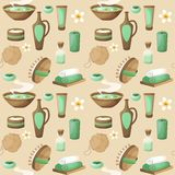 Spa seamless pattern Royalty Free Stock Photo