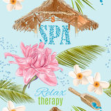 Spa seamless pattern Royalty Free Stock Images