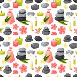 Spa seamless pattern vector. Stock Image