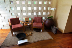 Spa seating area for relaxing and therapy Royalty Free Stock Photo