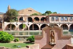 Spa semesterort i den spanska byn Montbrio del Campa Arkivfoton