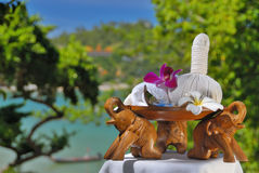 Spa Set. In Exotic Settings Stock Photo