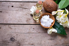 Spa set with coconuts. Stock Photos