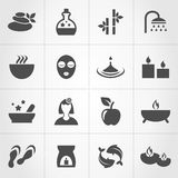 Spa 7. Set of icons spa. A vector illustration Royalty Free Stock Photography