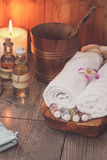 Spa set. Various items used in spa treatments Royalty Free Stock Photography
