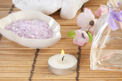 Spa setting. Pretty spa setting for relaxing Royalty Free Stock Images
