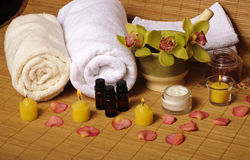Spa setting Stock Photography