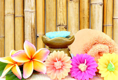 Spa setting and bamboo background. Stock photo Stock Images