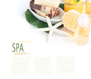 Spa setting with beauty products Stock Photos