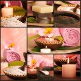 Spa setting collage Stock Photos