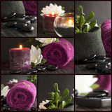 Spa setting collage Stock Images