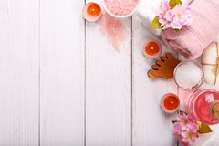 Spa setting and health care items Stock Images