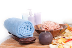 Spa Setting isolated Stock Photo