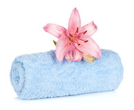 Spa setting with lily flower Stock Photos