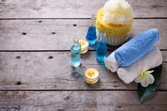 Spa setting with place for text. Royalty Free Stock Photo