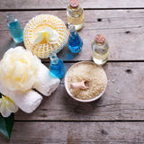 Spa setting with place for text. Royalty Free Stock Photos