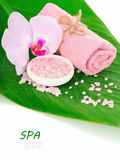 Spa setting for relaxation Stock Photos