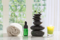 Spa setting Relaxation and Zen Stock Photo