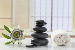 Spa setting Relaxation and Zen Royalty Free Stock Photography