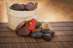 Spa setting with stones and shells Stock Photography