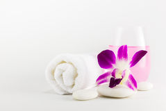 Spa setting with towels Stock Photos