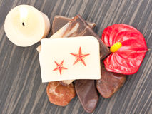 Spa setting with two starfish Stock Photos